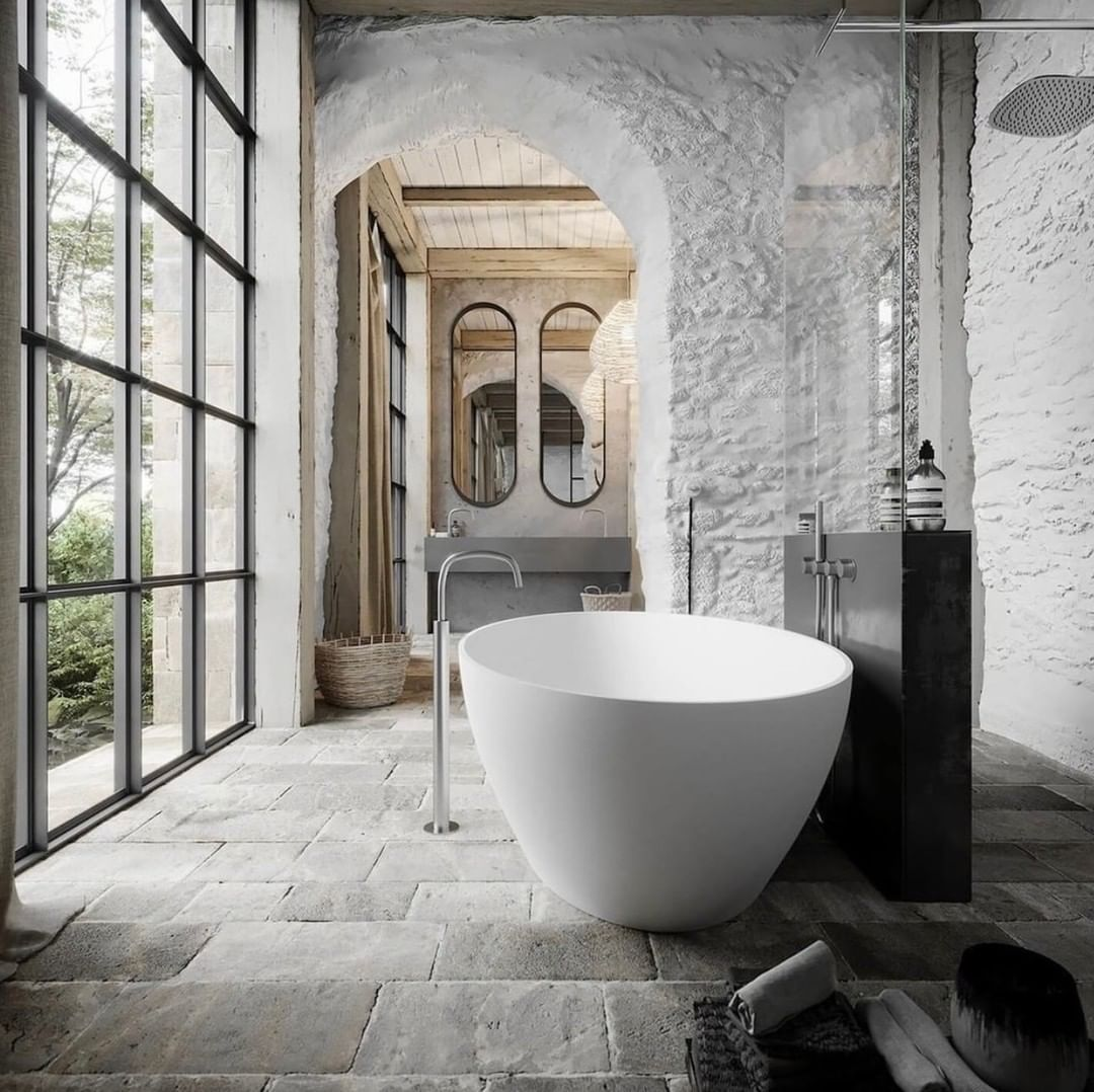 S T I L T J E On Instagram A Bath In The Middle Of The Week This Bathtube Salinas Form Cocoon And This A In 2020 Bathroom Design Luxury Bathtub Top Bathroom Design