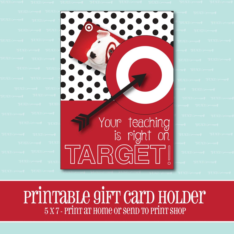 INSTANT DOWNLOAD, Target Gift card Holder, Amazing Teacher, Gift ...