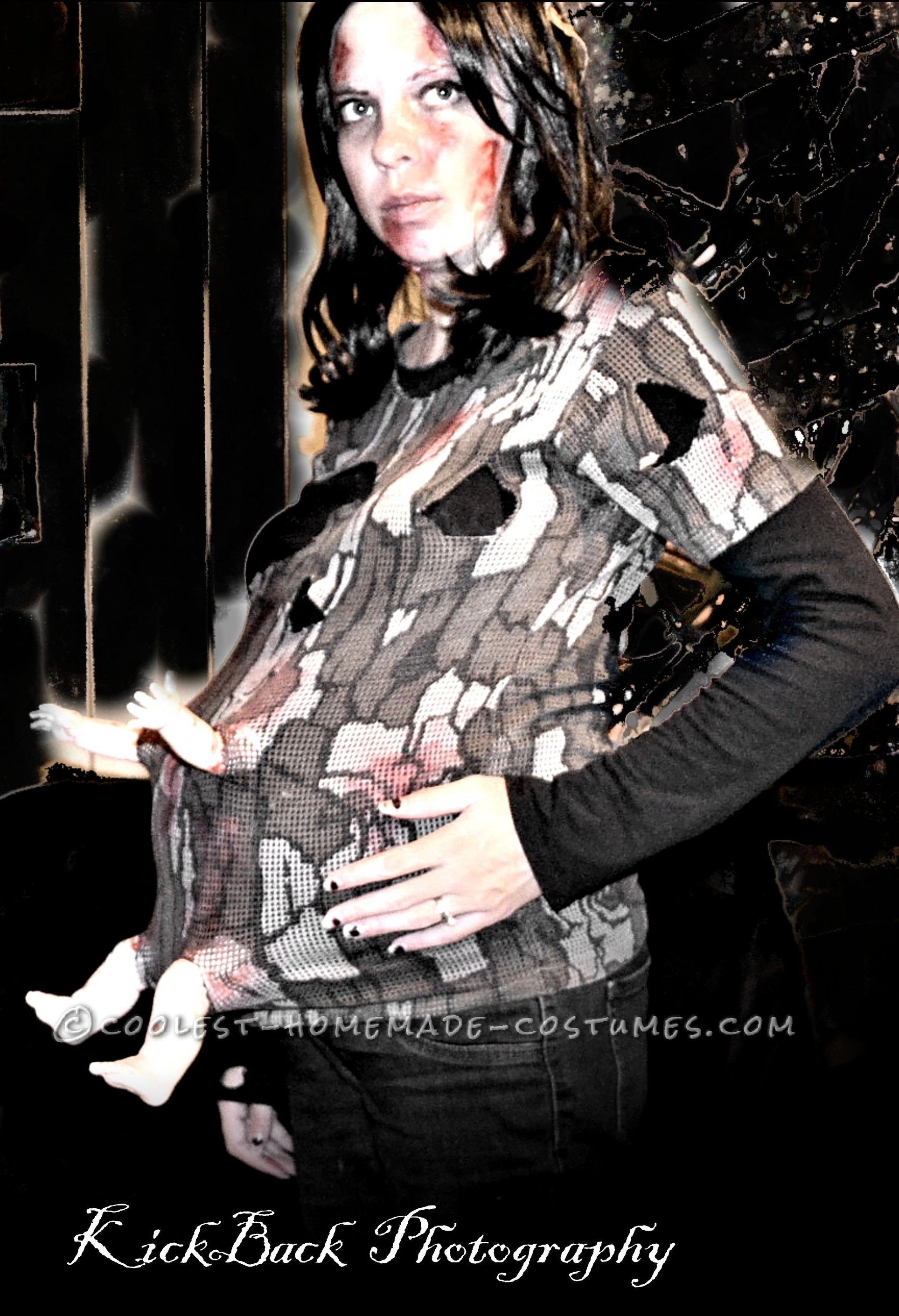 d6804a20ee328 Cool Pregnant Zombie Costume... Coolest Homemade Costume Contest