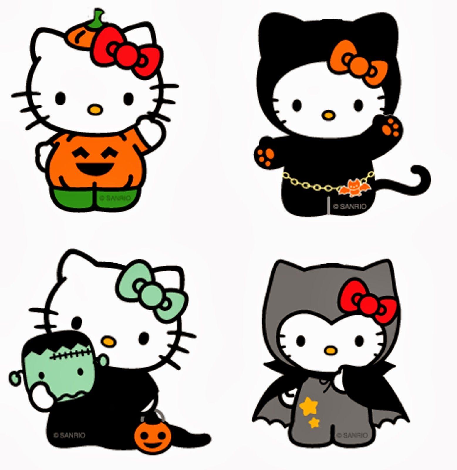 Free Hello Kitty Clipart No 4 Halloween Wallpapers In Hd Hello Kitty Clipart Hello Kitty Halloween Hello Kitty Tattoos