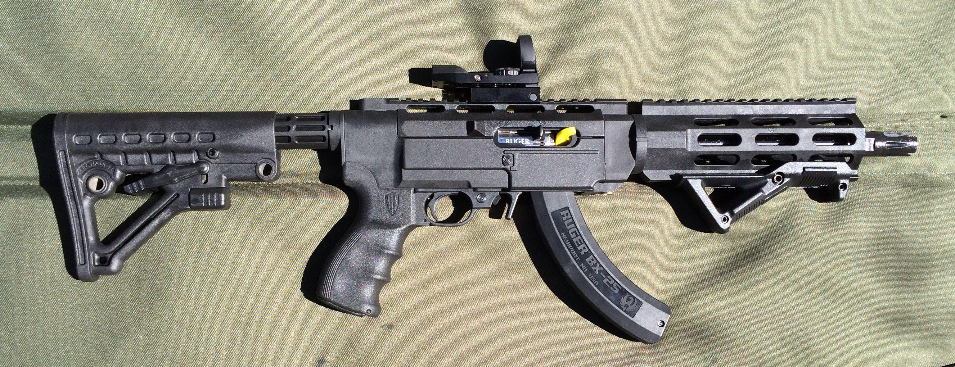 Ruger Charger In An Archangel Chassis With A Pws Triad Flash