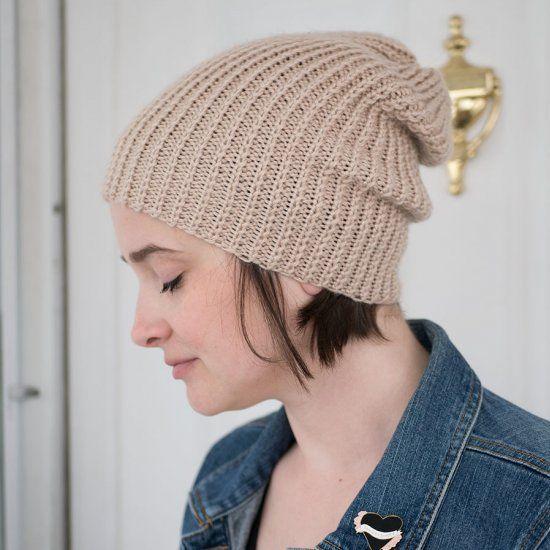 Circular needles are not necessary to knit this slouchy ...