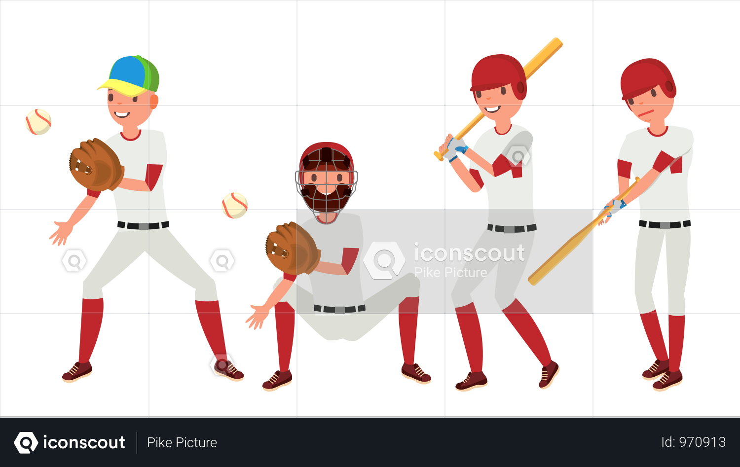 Premium Classic Baseball Player Illustration Download In Png Vector Format In 2020 Baseball Players Players Sport Illustration