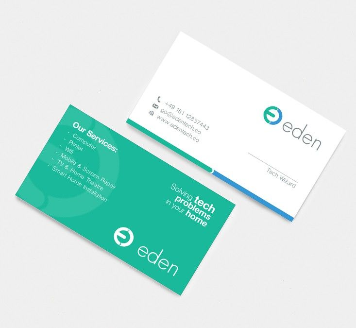Design A Business Card For Eden! Empower People With Tech