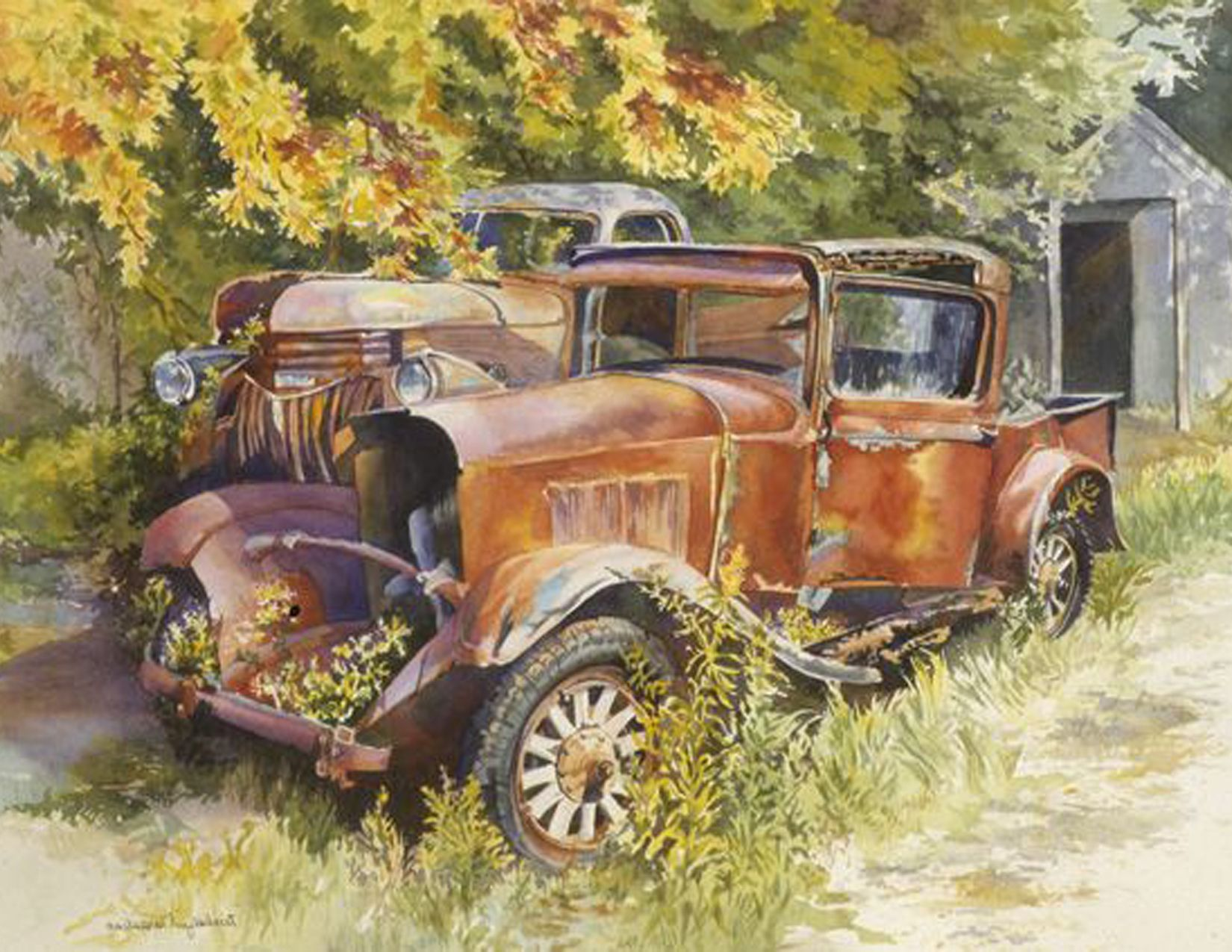 Rusty Truck Acres With Images Car Painting Abandoned Cars