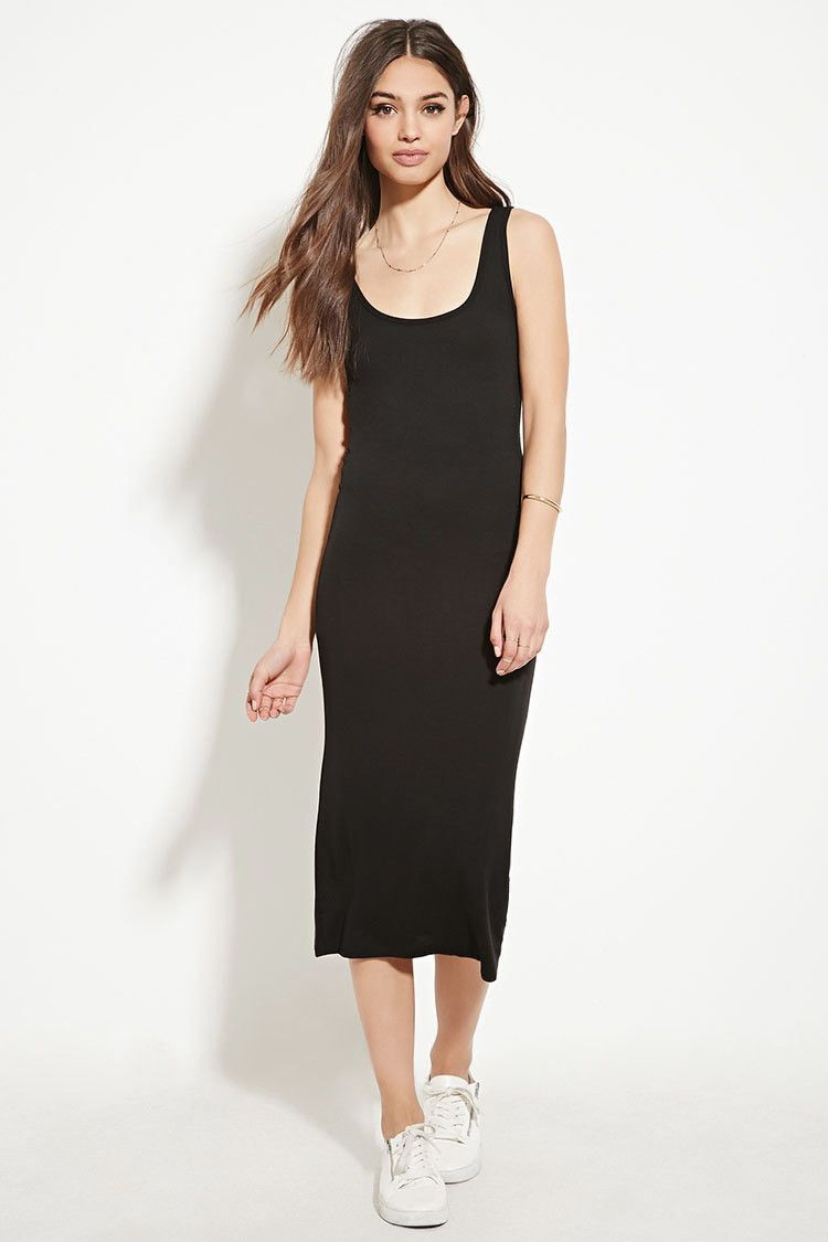 d0895319e9 Black Bodycon Midi Dress Forever 21 | Saddha