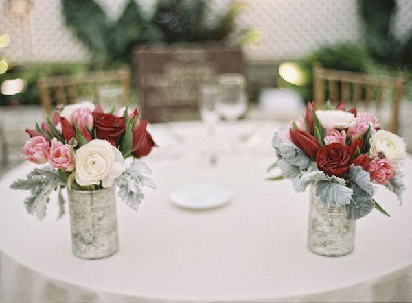 Chic Winter Greenhouse Wedding Wedding Centerpieces Pinterest
