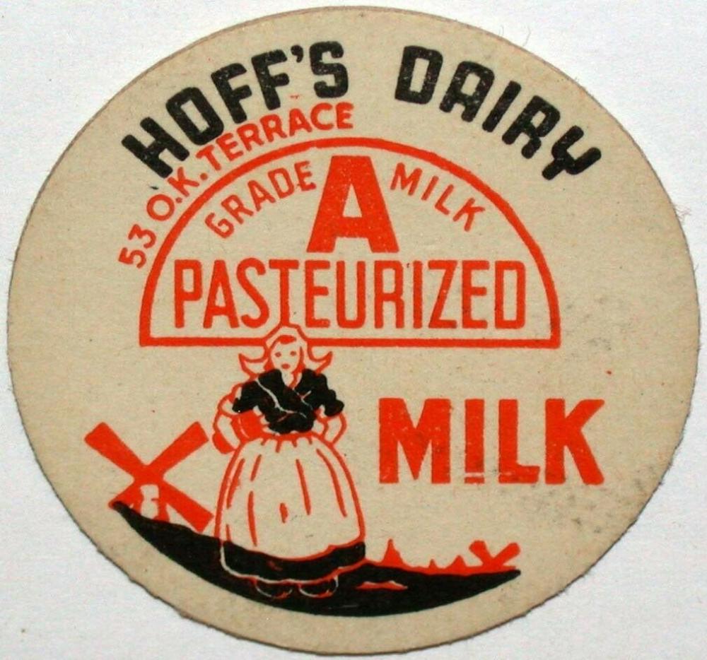 Hoff S Dairy Vintage Milk Bottles Bottle Caps For Sale Milk Bottle