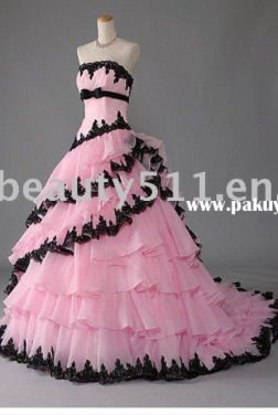 Pink and black with ruffles! Simply gorgeous!