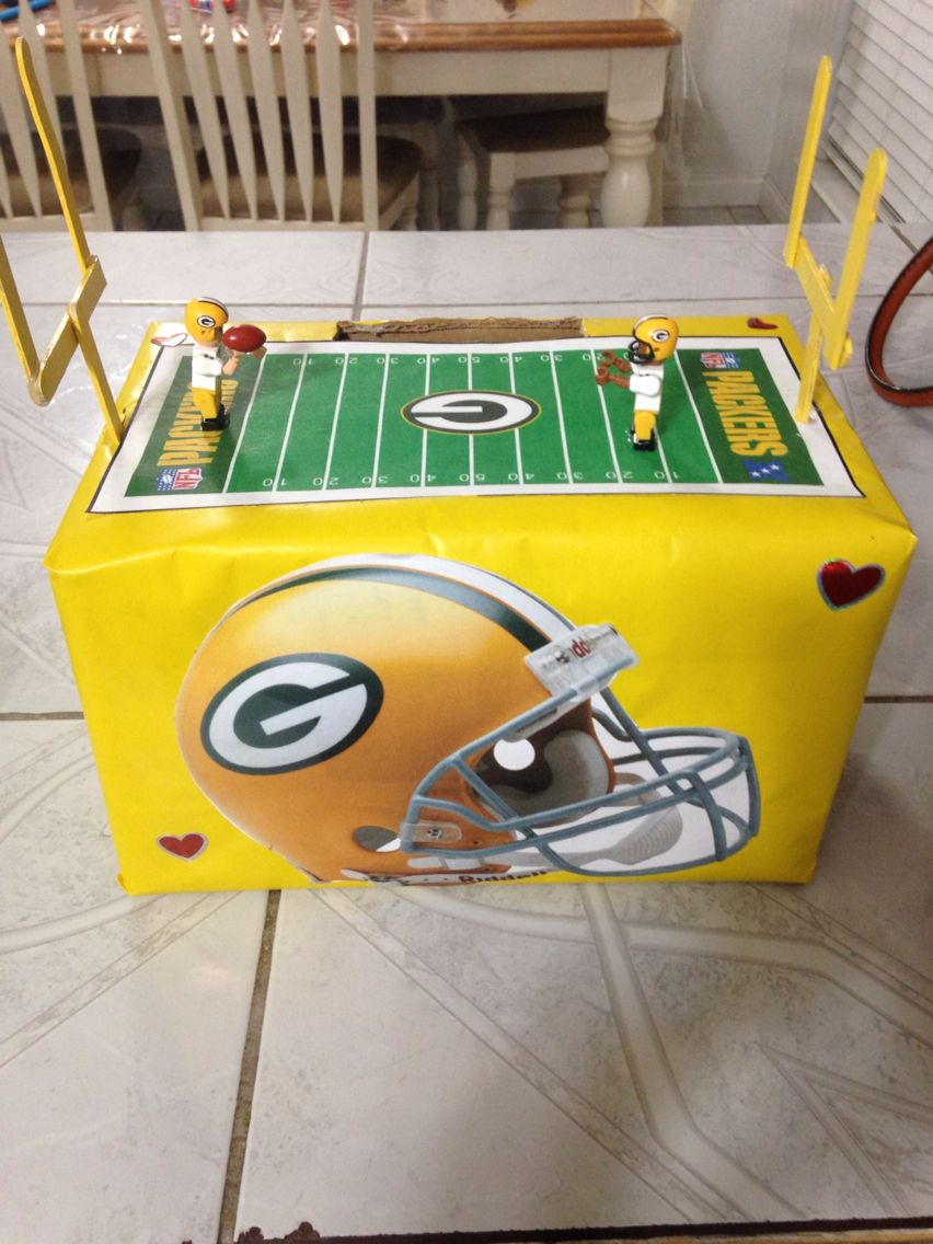 ac4f17e7 Packers Valentines Box | Packers!!! | Valentine box, Valentine day ...