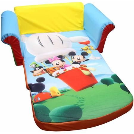 Marshmallow Furniture 2 In 1 Flip Open Sofa, Mickey Mouse Club House |