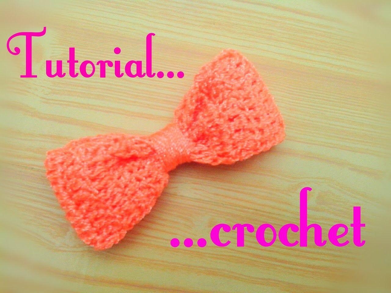 Moño tejido a crochet. lazo a crochet | Pinterest | Moños tejidos ...