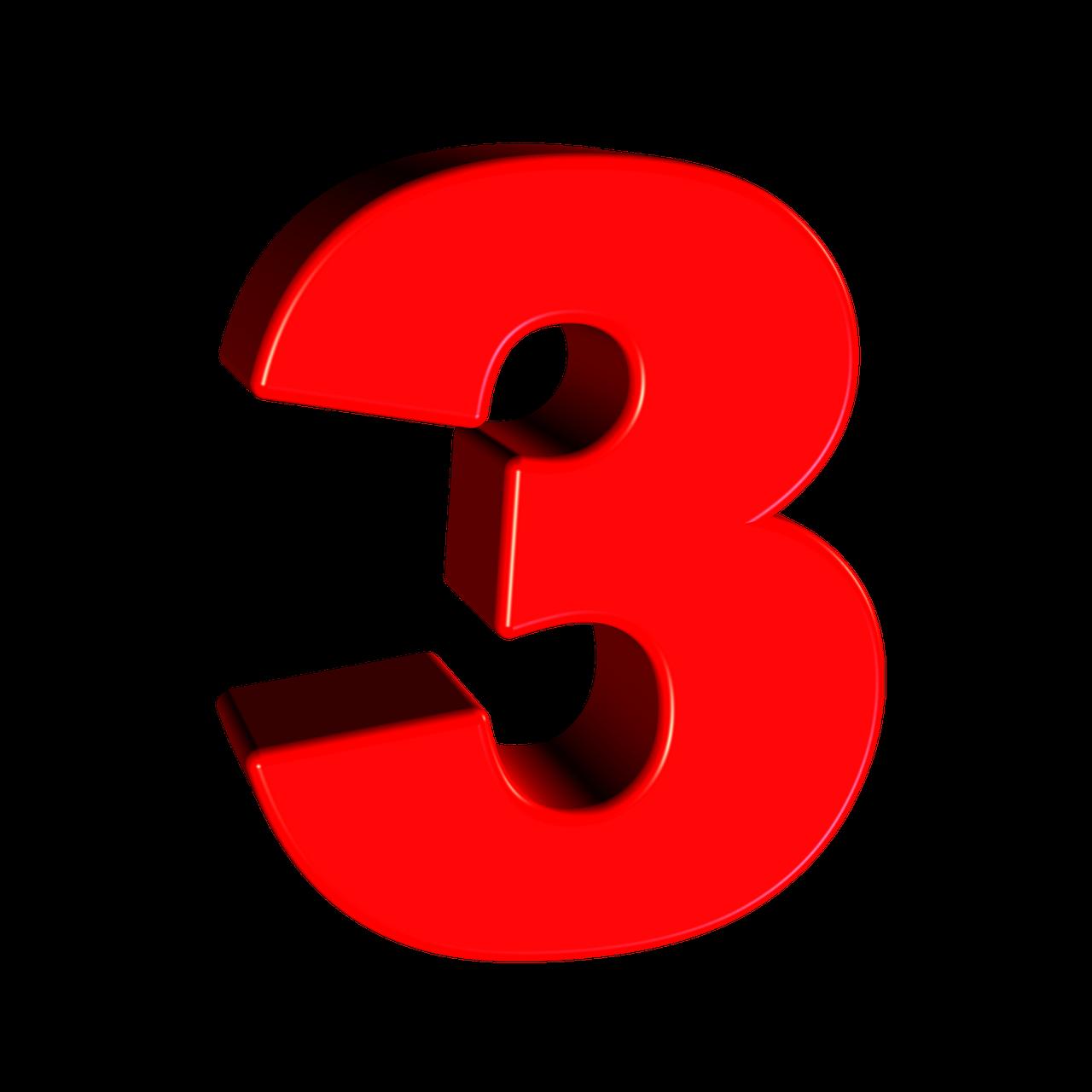 Imagen Gratis En Pixabay Tres Numero 3 Digito Fuente
