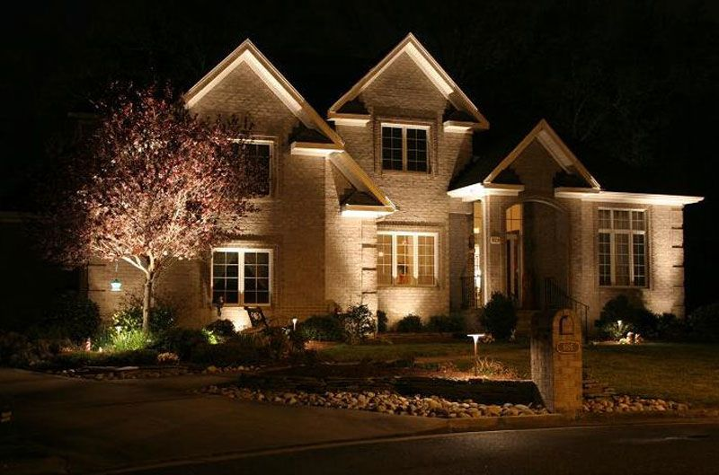 Transform A House Into A Beautiful Home Using Outdoor Flood Lighting.