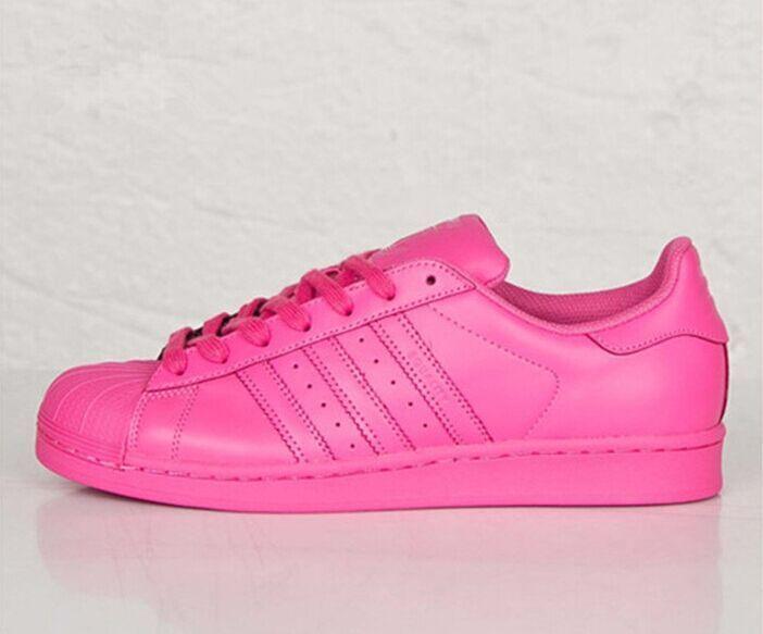 Hot Womens Adidas Originals Superstar Comfort Supercolor PHARRELL WILLIAMS Shoes Solar Pink S41839