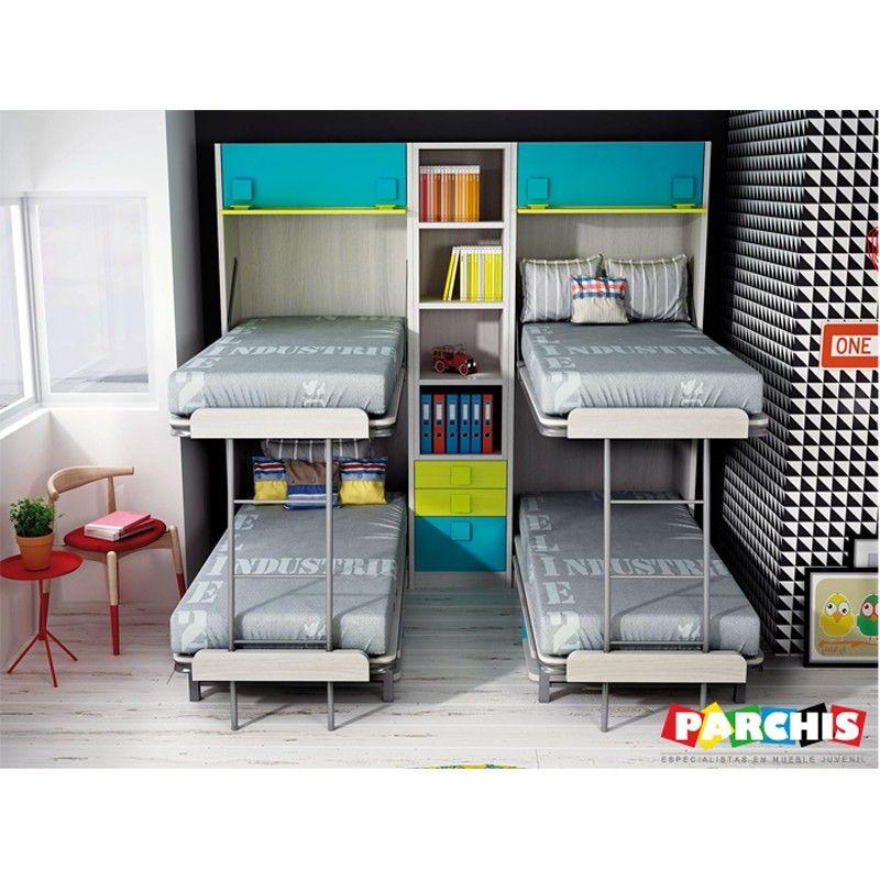 Literas verticales abatibles mueble litera en vertical for Litera mueble joven