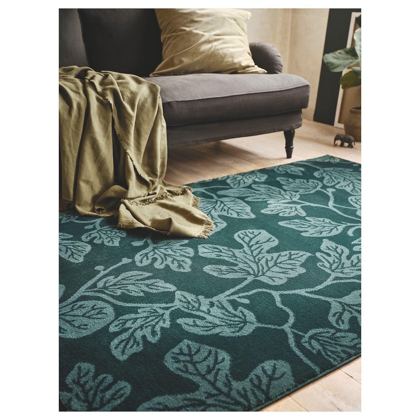 Hildigard Teppich Kurzflor Grün Teppich Ikea Teppichreinigung