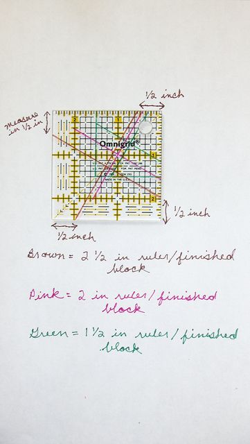 Measurements I used... | Windmill, Tutorials and Twister quilts : twister quilt ruler - Adamdwight.com