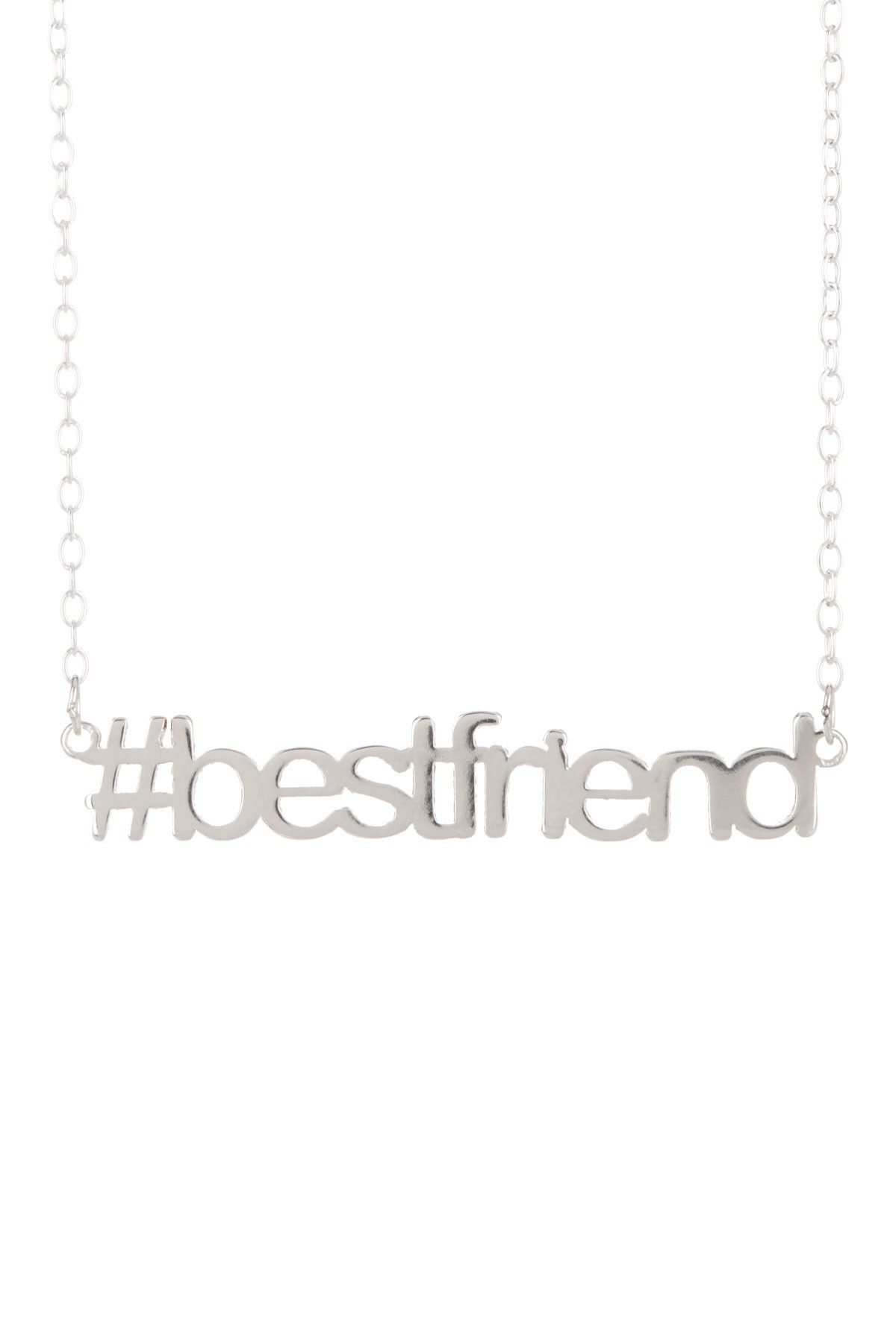 Cute hashtag BFF necklace #bestfriend Necklace