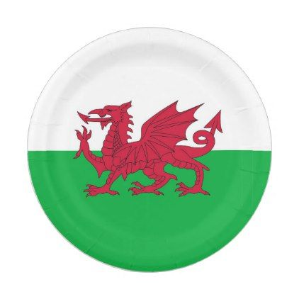 Patriotic paper plate with flag of Wales - cheap gifts diy cyo unique gift ideas  sc 1 st  Pinterest & Patriotic paper plate with flag of Wales - cheap gifts diy cyo ...