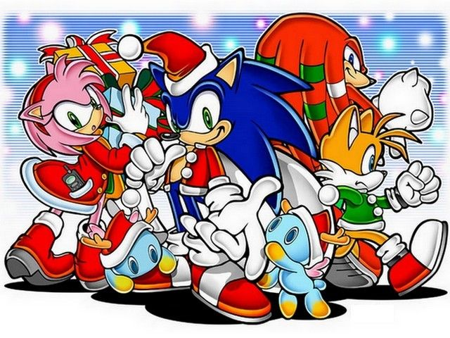 Sonic and Friends Christmas Wallpaper - Sonic, the blue hedgehog ...