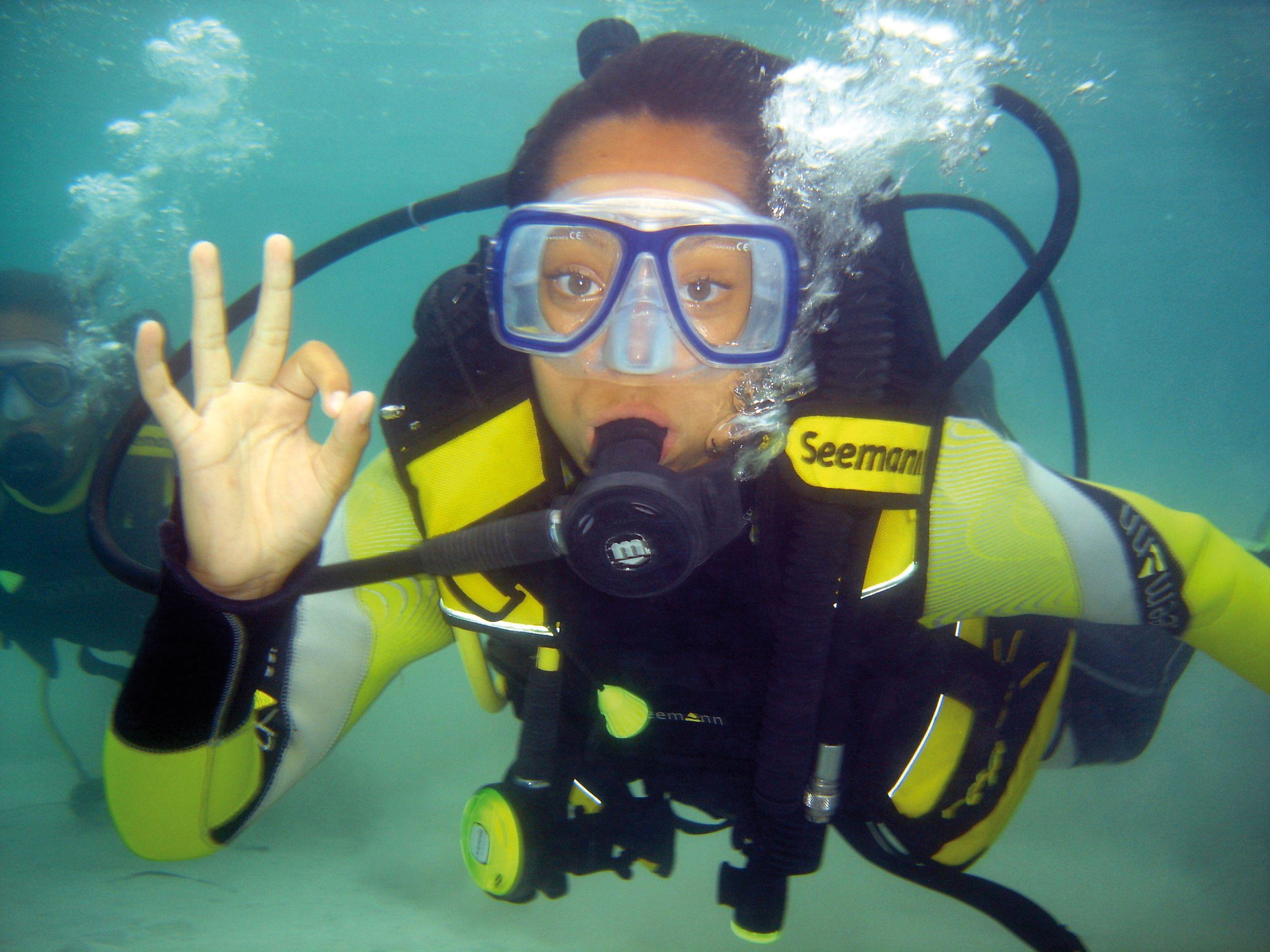 Say hello to the camera. Ibiza diving