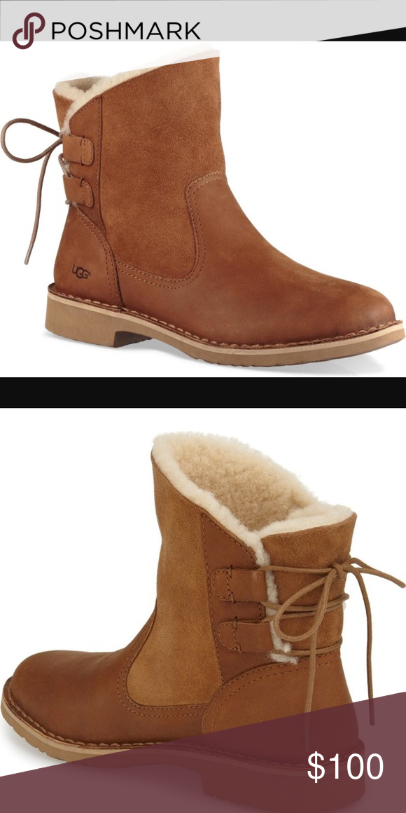 55f92187194 NEW UGG NAIYAH CHESTNUT. Without box Rich leather and our signature ...