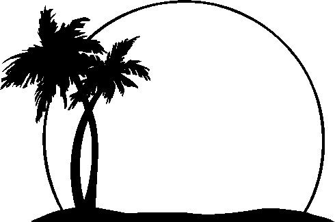 18++ Palm trees silhouette clipart ideas in 2021