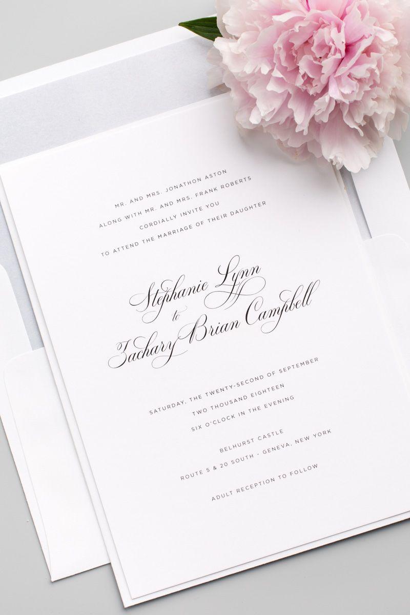 Delicate Elegance Wedding Invitations Belly Bands Wedding