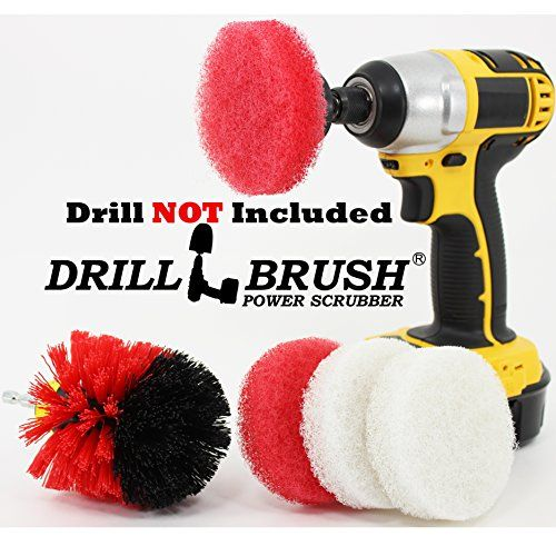 Battery Powered Bathroom Scouring Pads And Electric Scrub Brush - Battery powered scrub brush