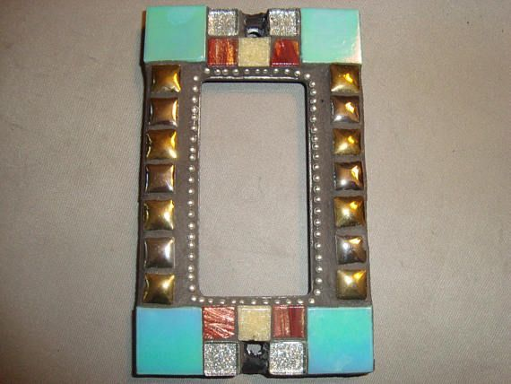 MOSAIC Outlet Cover or Switch Plate, GFI Decora, Wall Art
