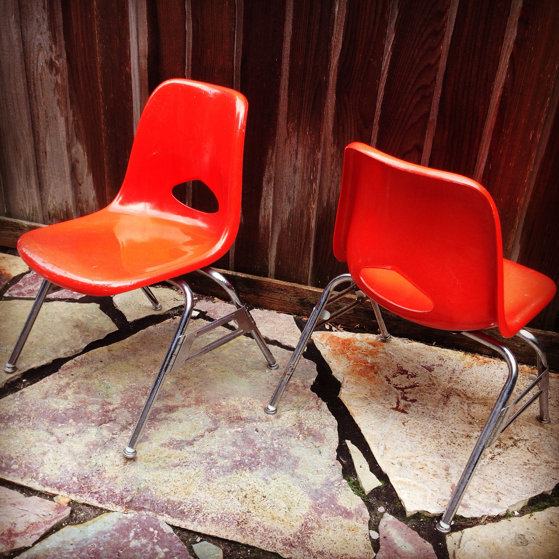 Fiberglass bucket chairs - kid sized - by Krueger. | Mid ...