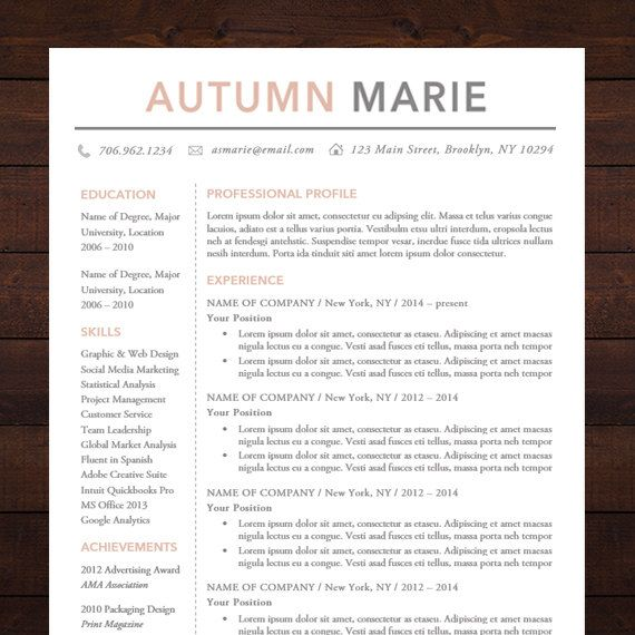 Resume Template Word Mac Unique Resume Template  Cv Template For Word Mac Or Pc Professional .