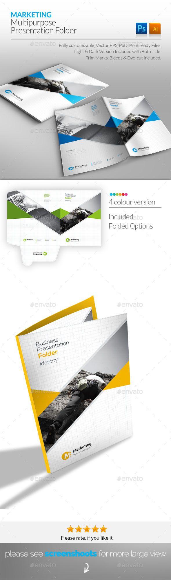 Corporate Presentation Folder Template PSD, AI Illustrator #design ...