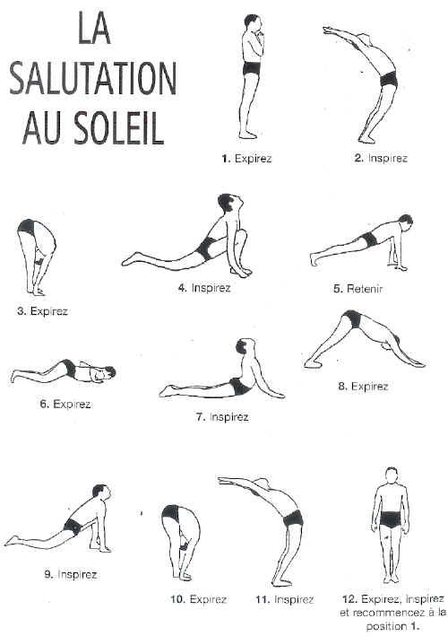 Schéma Yoga salutation au soleil  YogaRelaxationPosesandSequence ... d8b1a6d18fe