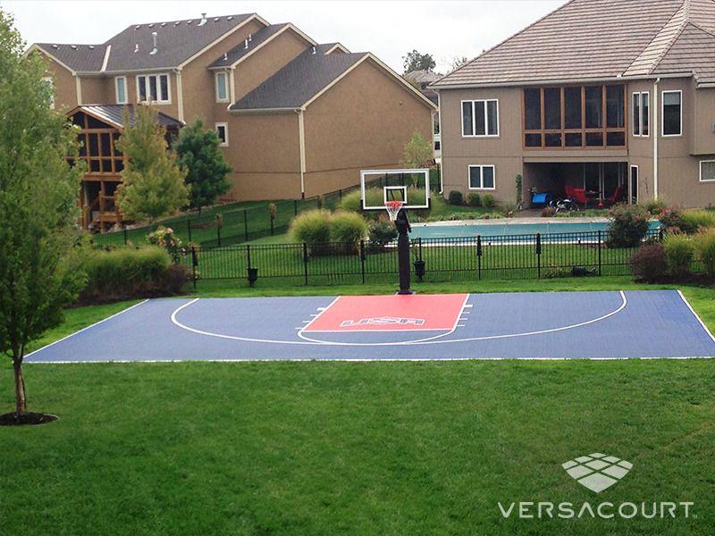 Backyard Basketball Court With Logo