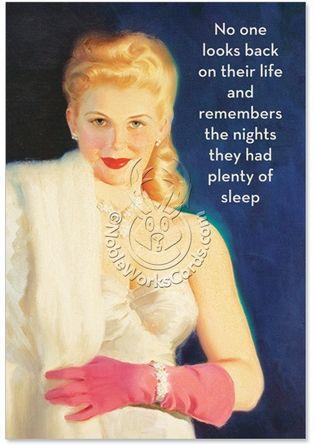 Glamorous Plenty Of Sleep Birthday Card By Nobleworks 4127