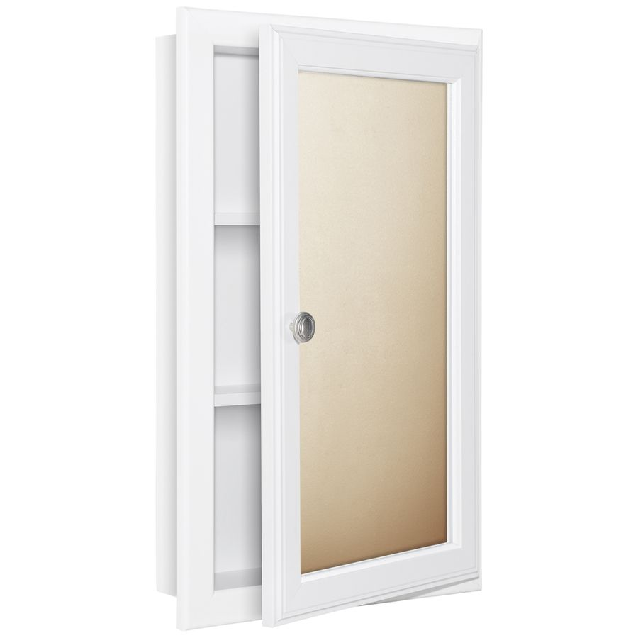 Style Selections 25 75 In H X 15 W White Mdf Recessed Medicine Cabinet At Lowes