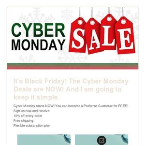 Read my latest newsletter for my Black Friday, Shop Small and CyberMonday