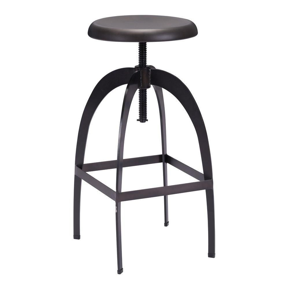 Zuo Aristotle Barstool in Antique Black in Products