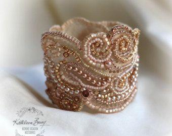 R1450 accesorios de novia Vintage encaje por KathleenBarryJewelry