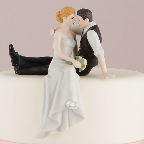 The Look Of Love Bride And Groom Figurine Funny Wedding Cakes Cakescake Topper