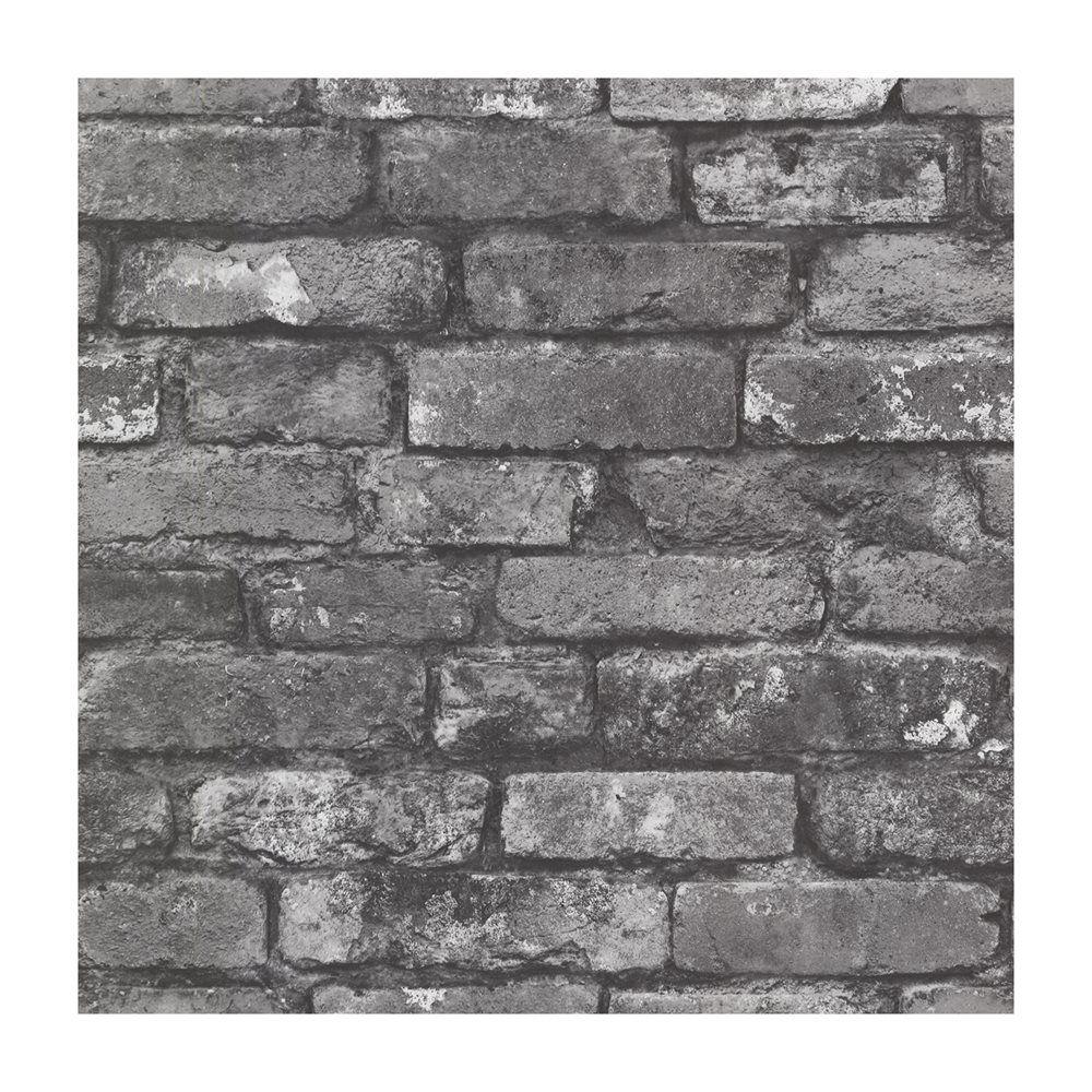 Provincial Wallcoverings 2604 21260 Brickwork Slate Exposed Brick Effect Wallpaper Lowe S Canada 20 5 X33 Brick Texture Brick Effect Wallpaper Exposed Brick