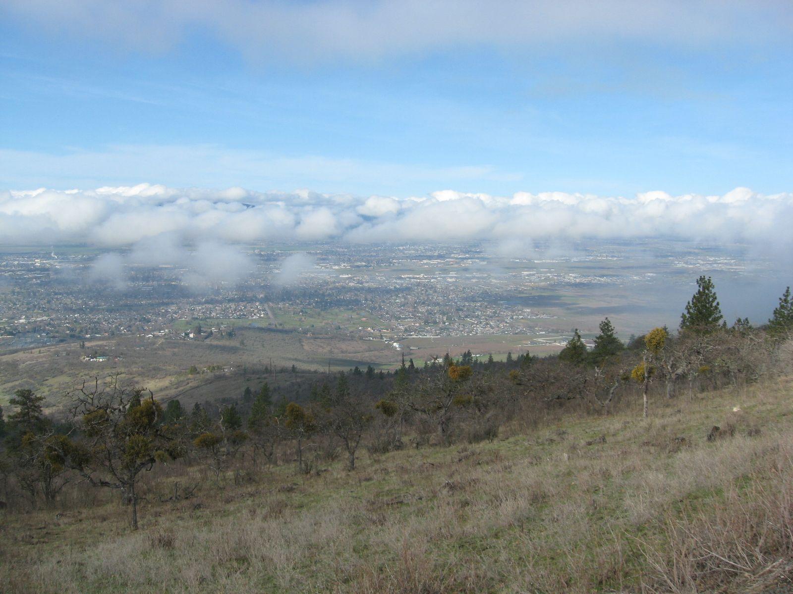 Medford, Oregon, from Roxy Ann Peak, facing west