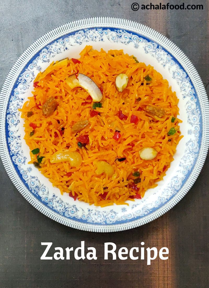 Zarda rice | Recipe | Recipes, Meethe chawal recipe ...
