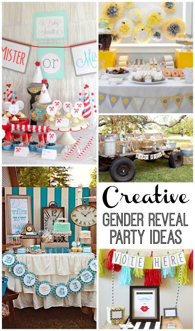 Super Creative Gender Reveal Parties Design Dazzle Gender Reveal Party Theme Gender Reveal Party Creative Gender Reveals