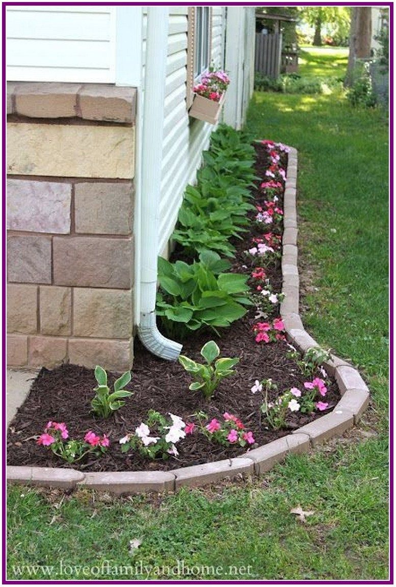 28 beautiful flower beds in front of house ideas 00010
