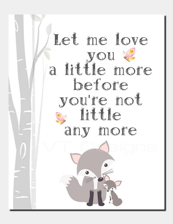Fox Nursery Decor Wall Art Toddler Room Baby