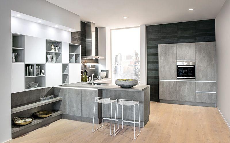 Comet spachtelbeton perlgrau häckerküchen häcker küchen küchenplanungen classic · contemporary kitchen designkitchen