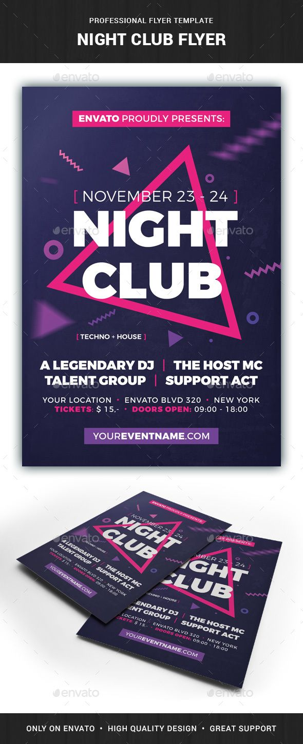 club flyers template